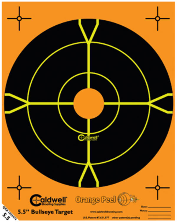 "Caldwell Orange Peel Bullseye 5.5"" 10 sheet #550010"