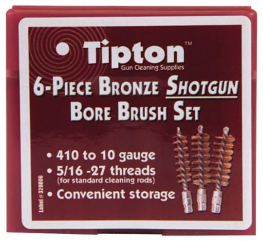 Tipton 6 Piece Bronze Shotgun Bore Brush Set #617-303