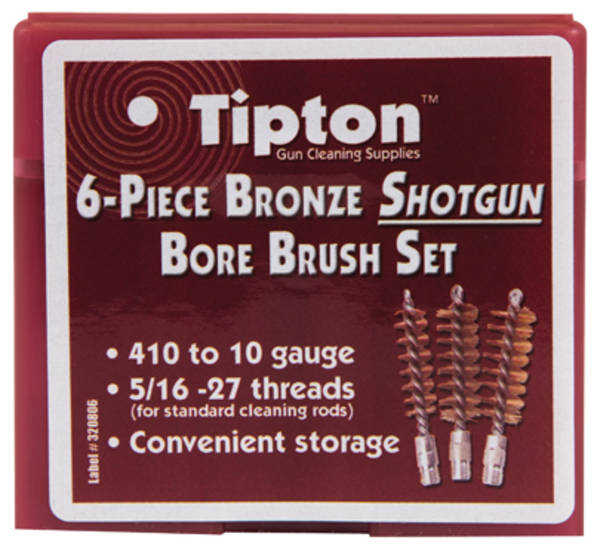 Tipton 6 Piece Bronze Shotgun Bore Brush Set #617-303