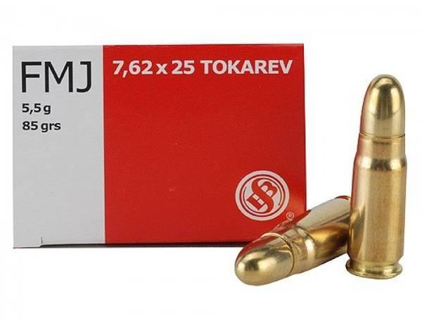 Sellier & Bellot 7.62x25 Tokarev 85gr FMJ x50