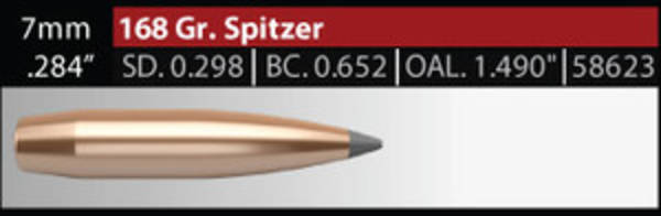 Nosler Accubond Long Range 7mm 168gr