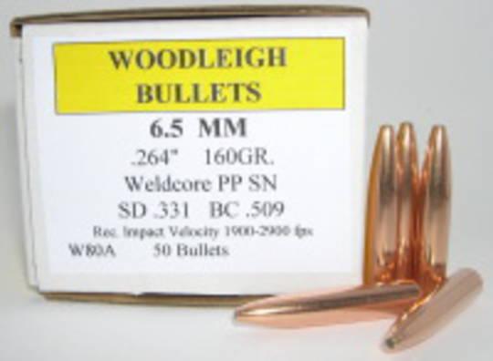 Woodleigh 6.5mm 160gr RNSN x50