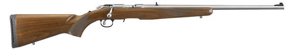 "Ruger American Rimfire Stainless Walnut 22LR 22"" SKU#08359"