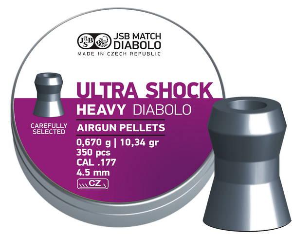 JSB Diabolo Heavy Ultra Shok .177 10.34 Grain x350