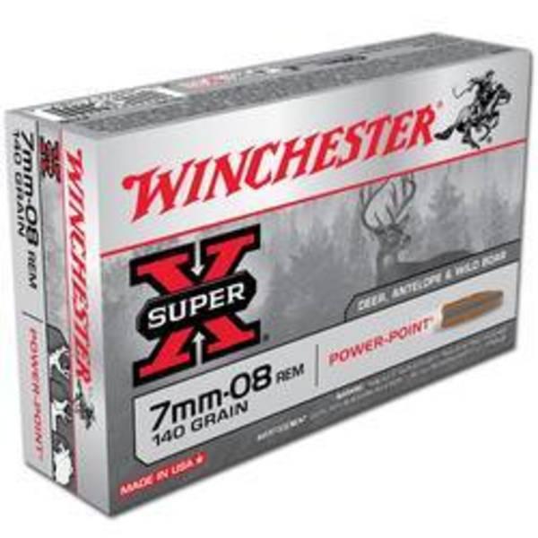 Winchester Super X 7mm08 Rem 140gr SP 20 Rounds