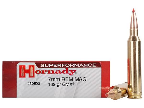 Hornady Superformance International 7mm Rem Mag 140gr GMX x20 #80598