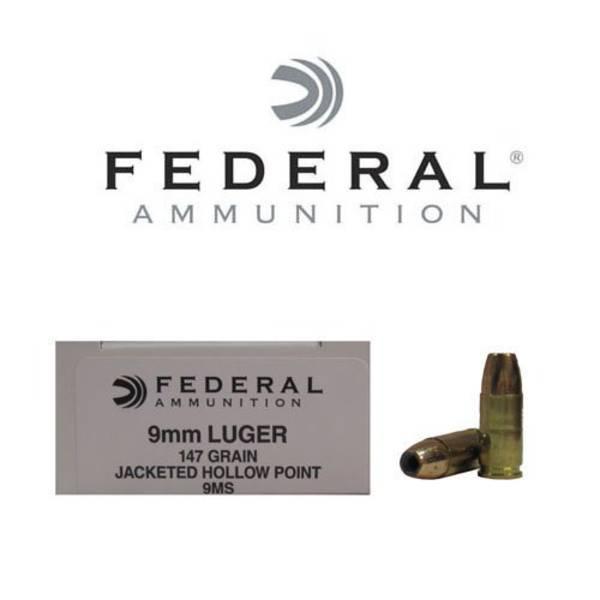 Federal Hi-Shok 9mm 147gr JHP x50