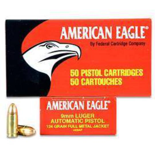 American Eagle 9mm 115FMJ 50 Rounds