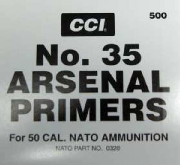 CCI 50 BMG Primers No35 Box of 100