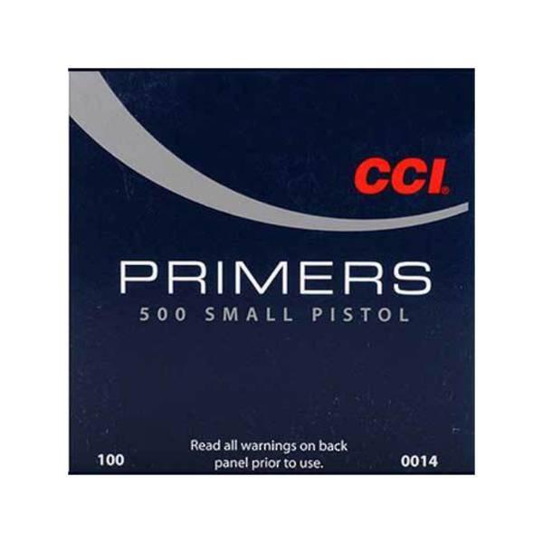 CCI Small Pistol Primers No500 Box of 1000