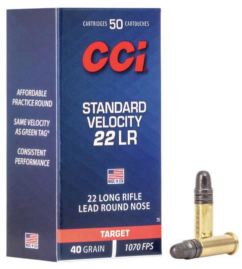 CCI Standard Velocity 22LR Lead Round Nose 500 Rounds