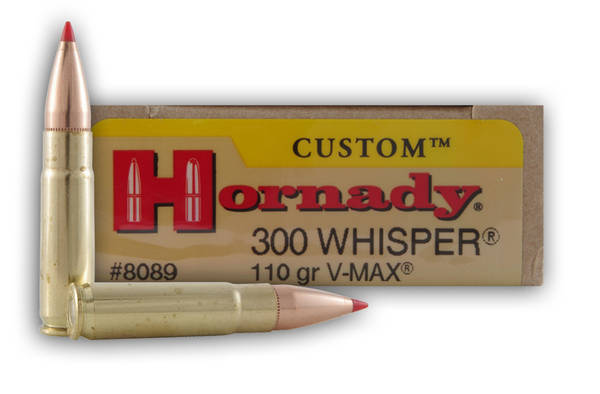 Hornady custom 300 Blackout 110gr v-max 20 rounds  8089