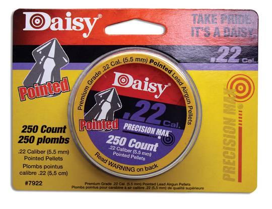 Daisy .22 Pointed Air Rifle Pellets (250 pcs)