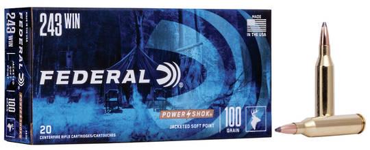 Federal Power Shok 243Win 100gr x20
