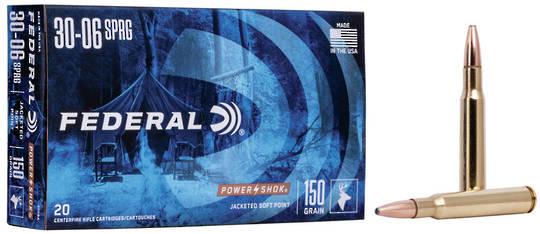 Federal Power Shok 30-06Spg 150gr x20