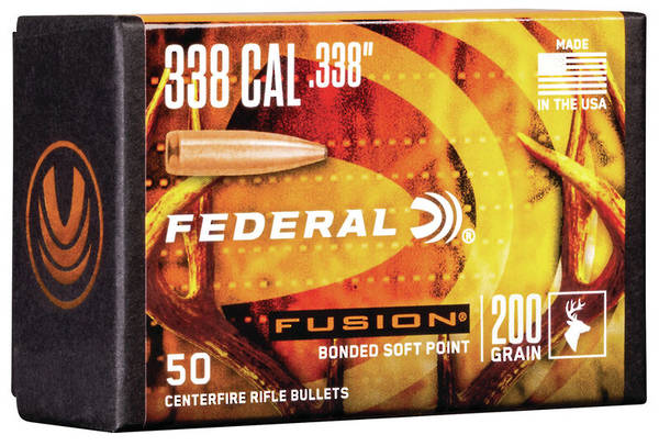Federal Fusion Projectiles 338cal 200gr x50