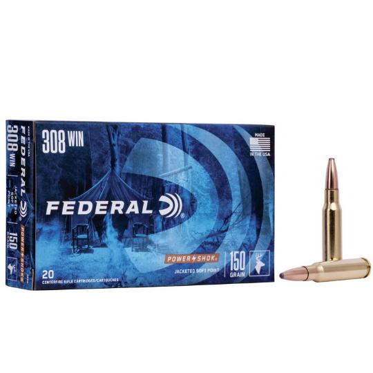 Federal Power Shok 308 Win 150gr 308A