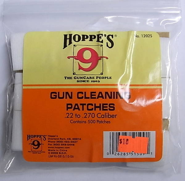 Hoppes 9 Patches 270-35 Cal
