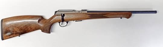 "Anschutz 1727F Walnut 17HMR R/H 18"""