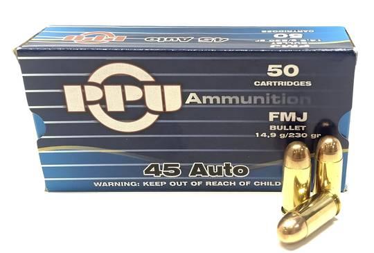 PPU 45ACP 230gr FMJ x50