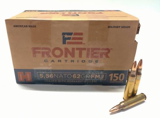 Hornady Frontier 5.56 NATO 62gr FMJ x150