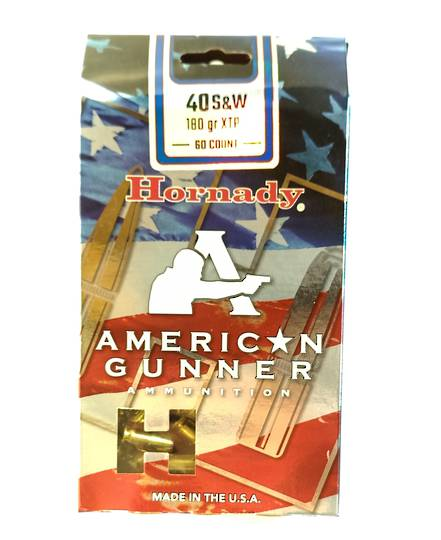 Hornady American Gunner 40S&W 180gr XTP  60rds