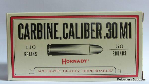 Hornady Custom 30 Carbine 110gr FMJ x50 #8102