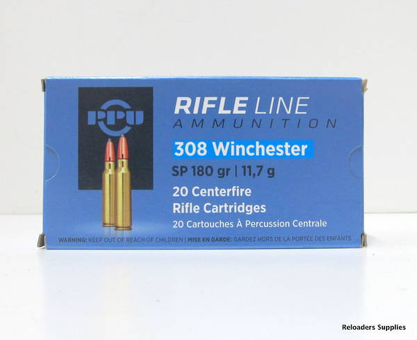 PPU Rifleline 308 Win 180gr SP 20 Rounds