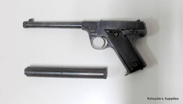High Standard Model B 22LR With Suppressor