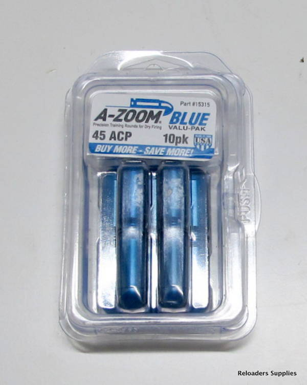 A-Zoom Blue Vale Pack 45 ACP 10 pieces