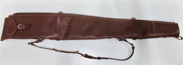 NZ made Full Leather Shotgun Slips Double Gun 52""