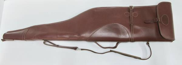 Scoped Leather/Wool Padding Rifle Slip 48""