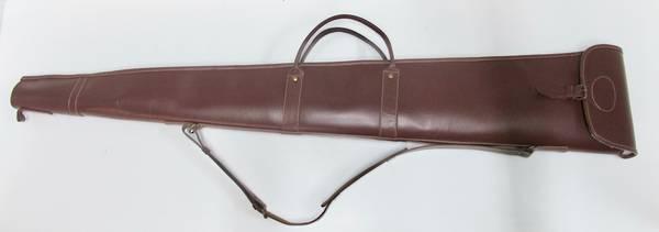 """Leather/Wool Padding Shotgun Case 52"""""""