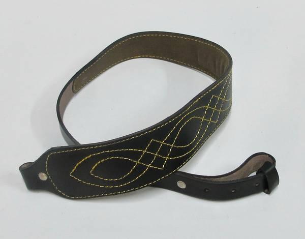 Genuine Black Leather Rifle Sling