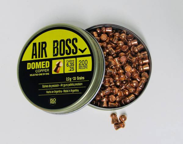 Apolo Air Boss Domed Copper 25 cal / 6.35mm Tin 200
