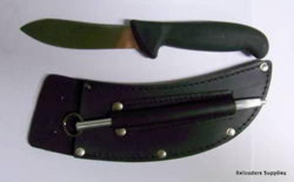 "Knifekut 5"" Skinning Knife, Sheath And Steel #2001"