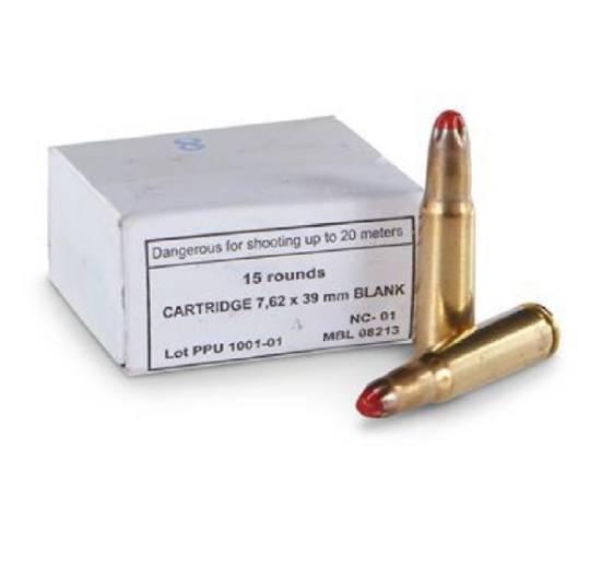 PPU Blanks 7.62x39 Russian x 15 Cartridges