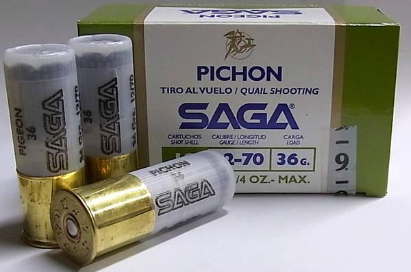 Saga Pichon 12g 36gr #9 Quail Load