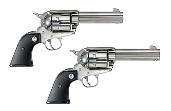 """Ruger Vaquero SASS 357 Mag 4.62"""" Stainless PAIR"""