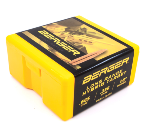 Berger 6.5mm 144gr LR Hybrid Target #26485 x100