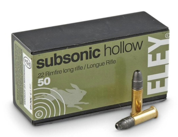 Eley Subsonic Hollow Point 22LR 40gr x500