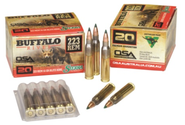 Buffalo River 223rem 55gr BlitzKing x20