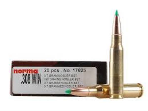Norma Ammunition 308win 150gr Nosler BT x20