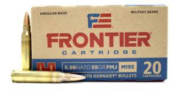 Hornady Frontier Ammunition 5.56 55gr M193 FMJ x150