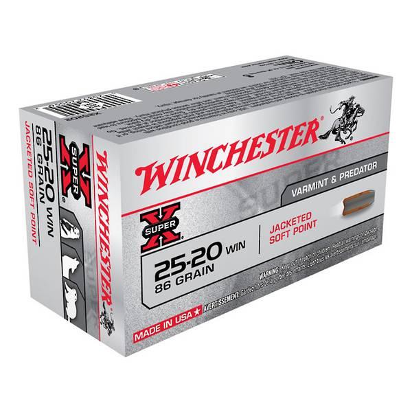 Winchester 25-20win 86gr SP x50