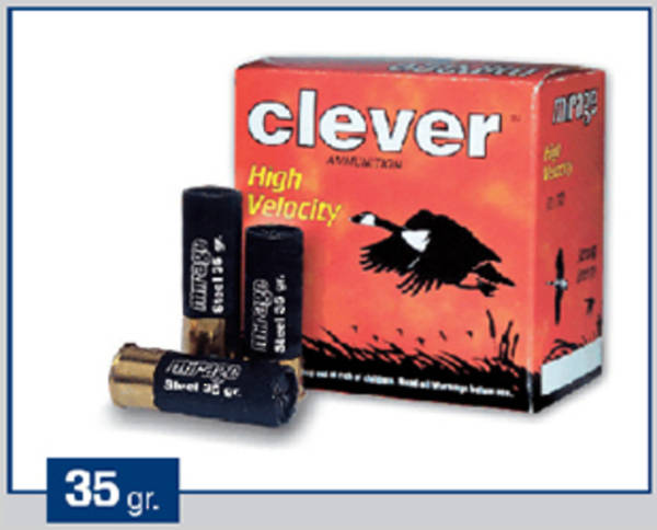 Clever Mirage 12 ga Soft Steel Hunting 35 gram T3 #2 250 Rounds