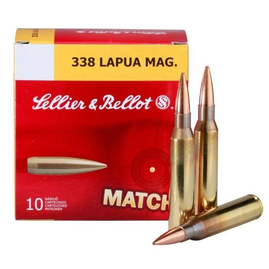 Sellier & Bellot 338 Lapua Match Ammo 250gr #2650