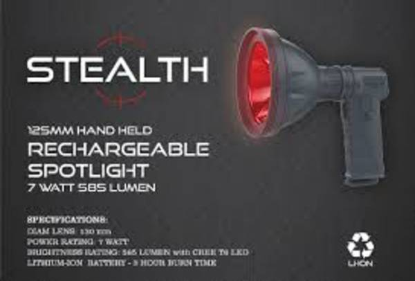 Stealth Rechargeable Spotlight Red  585 Lum