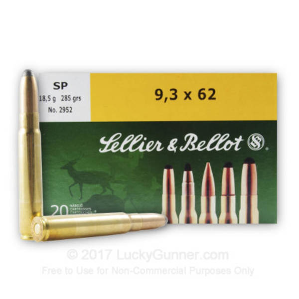 Sellier & Bellot 9.3x62 285gr x20