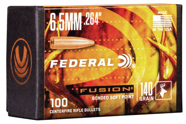 Federal Fusion Projectiles 6.5mm 140gr x100